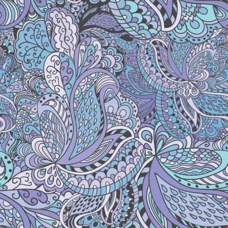 indien muster: Hand gezeichnete abstrakte nahtlose Muster