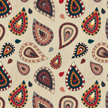 paisley pattern: Seamless pattern with ornement paisley