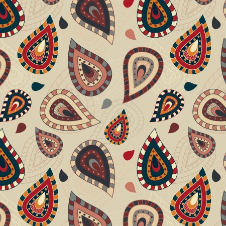 paisley pattern: Seamless pattern with paisley ornament Illustration