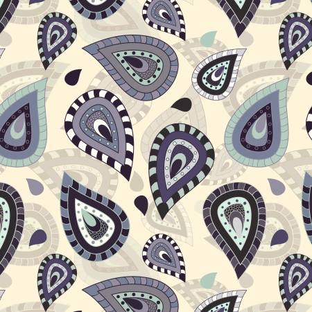 Seamless pattern with paisley ornament Illustration