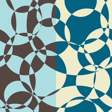 textile image: Set of two eamless abstract circles pattern