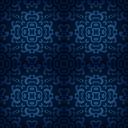 Ornamental damask pattern Vector
