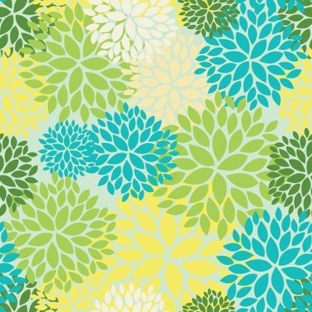 botanika: Květinový vzor bezešvé