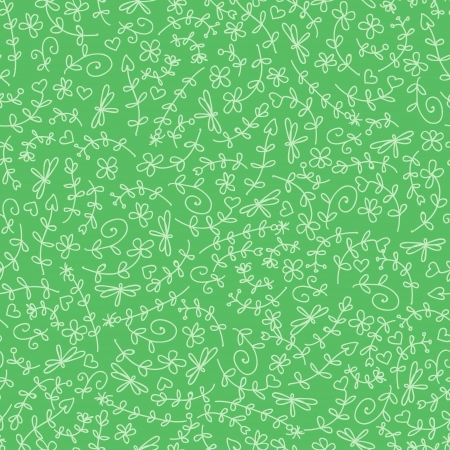Floral seamless pattern in green color. Seamless pattern can be used for wallpaper, pattern fills, web page background,surface textures. Vector