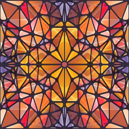 Abstract background with triangle pattern looking like stained glass Vector