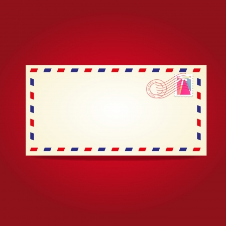 temlate: Postcard blank temlate with stamp