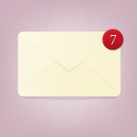 Blank envelope with number of notifications Vector