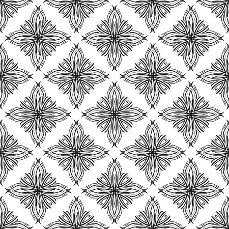 centric: Abstract vector seamless pattern in modern style. Seamless pattern can be used for wallpaper, pattern fills, web page background.