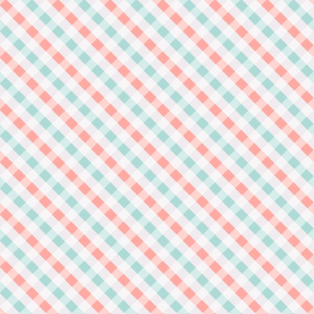 picnic basket: Seamless chekered pattern, coral and turquoise. Can be used for wallpaper, pattern fills, web page background, surface textures