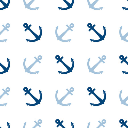 Seamless vector pattern with anchors. Seamless pattern can be used for wallpaper, pattern fills, web page background, surface textures. Vector