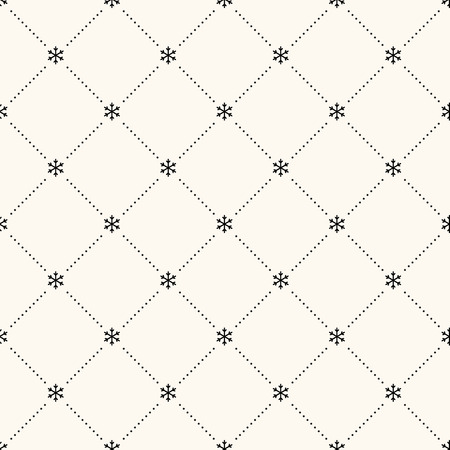 Vector seamless retro pattern, polka dot with snowflakes. Can be used for wallpaper, pattern fills, web page background,surface textures Illustration
