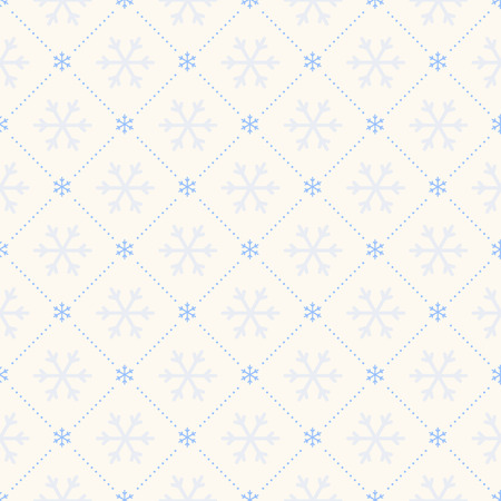 Vector seamless retro pattern, polka dot with snowflakes. Can be used for wallpaper, pattern fills, web page background,surface textures Ilustração