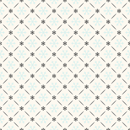 Vector seamless retro pattern with snowflakes. Can be used for wallpaper, pattern fills, web page background,surface textures Banco de Imagens - 23109558