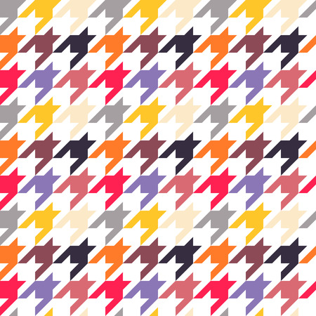 tweed: Houndstooth seamless pattern, colorful. Can be used for wallpaper, pattern fills, web page background,surface textures Illustration