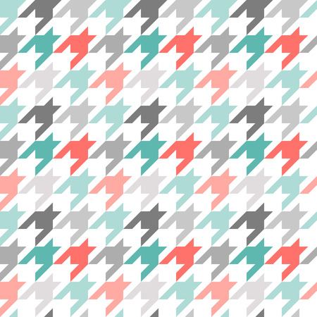Houndstooth seamless pattern, colorful. Can be used for wallpaper, pattern fills, web page background,surface textures Vector