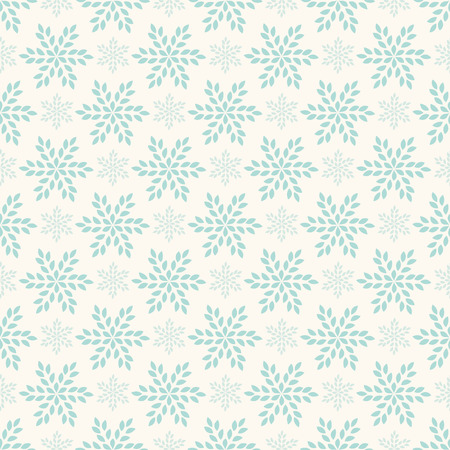 Vector seamless retro pattern, polka dot with flowers looking like snowflakes. Can be used for wallpaper, pattern fills, background Vector
