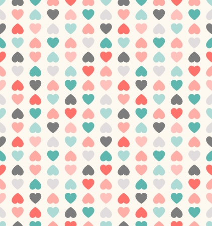 Beautiful seamless vector pattern with hearts. Can be used for wallpaper, pattern fills, web page background,surface textures Vector