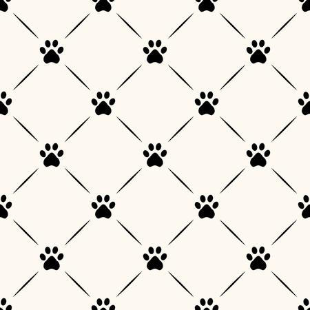 seamless geometric: Seamless modello animale della zampa impronta. Vettoriali