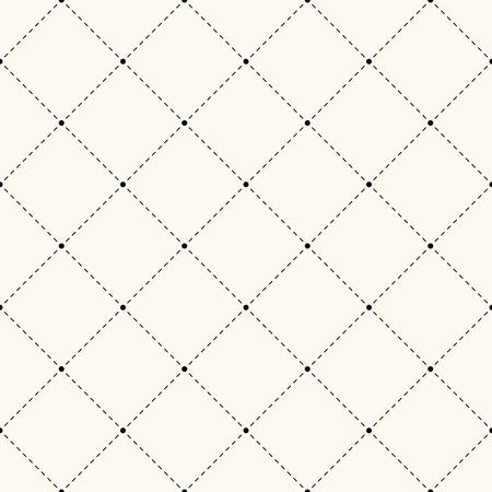 Seamless retro polka dot pattern. Repeating geometric tiles of circles and rhombus