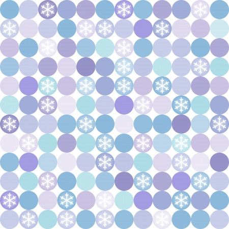 Vector seamless modern colorful pattern, with snowflakes. Can be used for wallpaper, pattern fills, web page background,surface textures