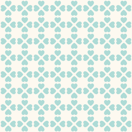 Seamless geometric pattern with hearts. Can be used for wallpaper, pattern fills, web page background,surface textures Vector