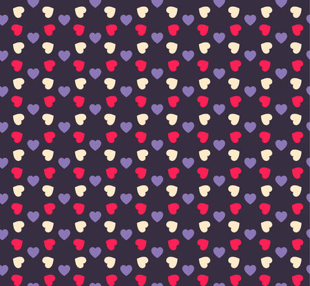 Seamless geometric hearts pattern.  Can be used for wallpaper, pattern fills, web page background,surface textures Vector