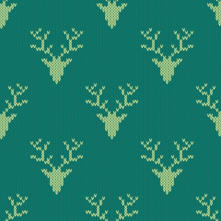 Knitted sweater with deer seamless pattern. Can be used for wallpaper, pattern fills, web page background,surface textures Vector