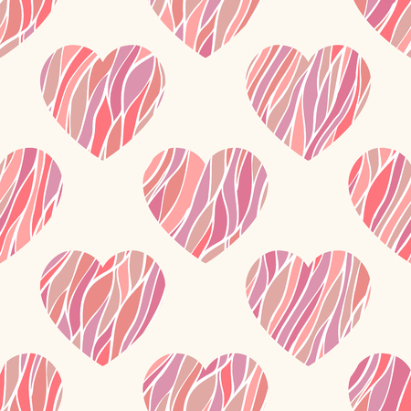 ripply: Seamless pattern with wavy hearts. Can be used for wallpaper, pattern fills, web page background,surface textures