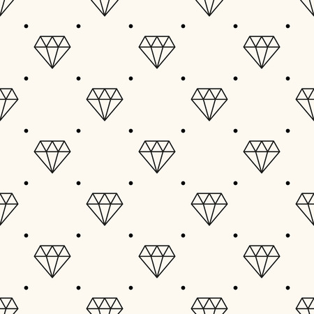 Vector seamless retro pattern, with diamonds. Vector