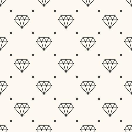 diamond stones: Vector seamless retro pattern, with diamonds.