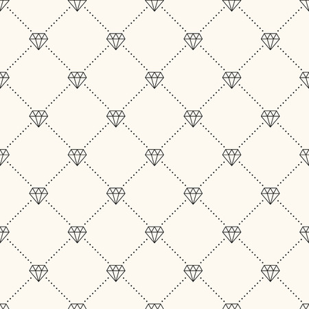 mirage: Vector seamless retro pattern, with diamonds. Can be used for wallpaper, pattern fills, web page background,surface textures