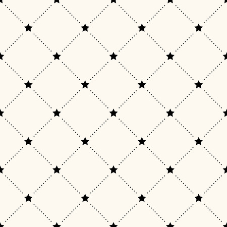 basic shapes: seamless retro pattern with stars