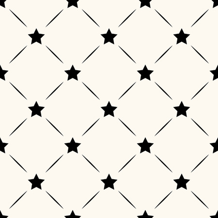 Vector seamless retro pattern with stars Vector