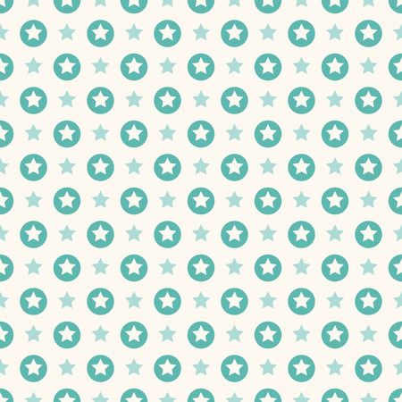 seamless retro pattern with stars Vector