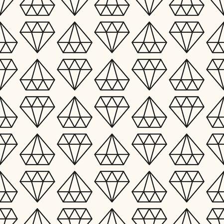 Vector seamless retro pattern, with diamonds.
