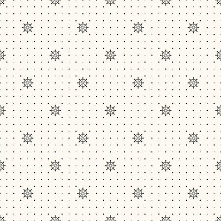 seamless retro pattern, polka dot with wheels.