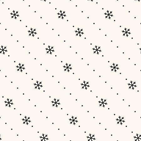 wallpaper dot: Vector seamless retro pattern, polka dot with snowflakes. Can be used for wallpaper, pattern fills, web page background,surface textures Illustration