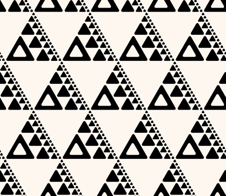 Seamless abstract decorative background.  Repeating geometric tiles from triangles of various size.