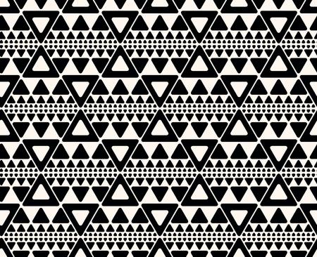 lijntekening: Naadloze abstracte geometrische decoratieve achtergrond. Het herhalen geometrisch patroon met driehoeken. Stock Illustratie