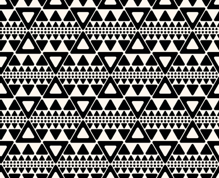 line drawing: Seamless abstract geometric decorative background.  Repeating geometric pattern with triangles.