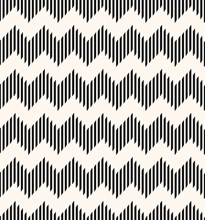 Seamless geometric pattern with zigzags made from lines. Modern vector background. Illustration