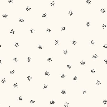 Seamless pattern with handdrawn figures. Vector repeating monochrome texture