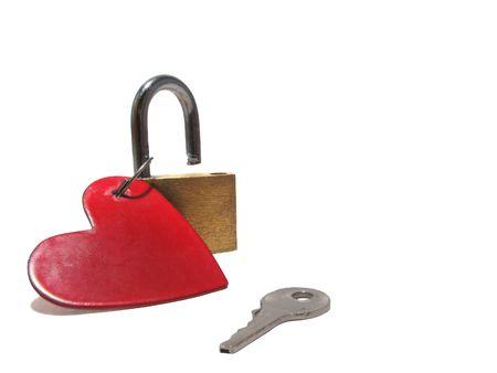 Heart, padlock, key photo