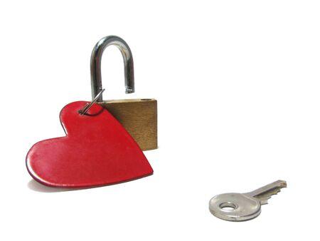 Heart, key, padlock photo