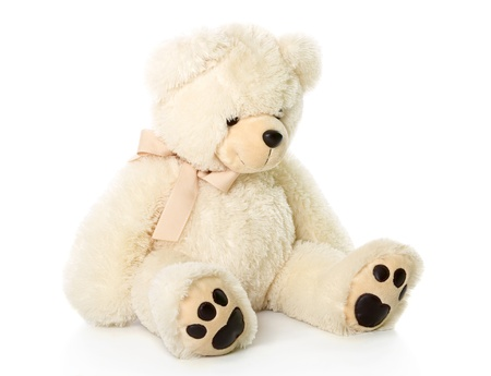plush toy: Teddy bear. Isolated on a white background
