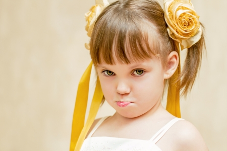 aciculum: The offended girl with pouting lips