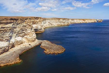 Rocky cliffs, the Black Sea coast - Crimea, Cape Tarkhankut