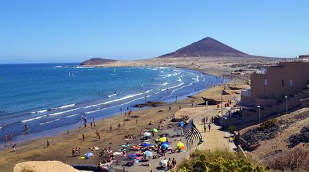 El Medano beach in south Tenerife, Canary Islands,Spain.