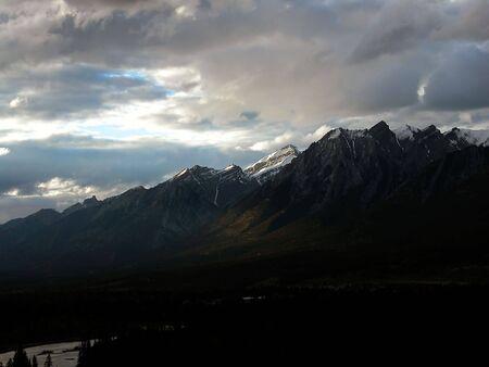 Sunlit Mountain Range
