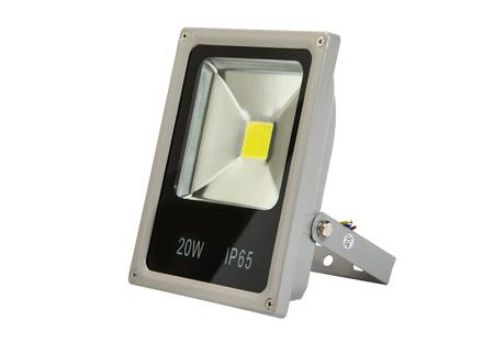 led lighting, led flood light, lamp led, isolated on white background.
